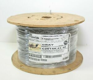 1,000' General Cable C2514A.41.10 Communication & Control 2C 22AWG Shielded Gray