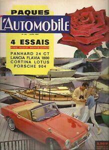 L'AUTOMOBILE 216 1964 PANHARD 24 CT LANCIA FLAVIA 1800 SALON GENEVE TOKYO