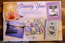 20 Leanin Tree Greeted Cards SINCERELY YOURS Occasions B-Day, Get Well, Sympathy