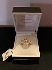 Zirconia Ring Size P- Sterling Silver Gold Played Cubic