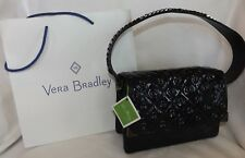 VERA BRADLEY Cole Mini Shoulder Bag Glossy Navy Patent Leather Chain Strap - New