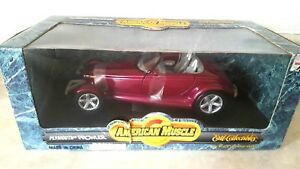 AMERICAN MUSCLE Diecast 1:18 Plymouth Prowler Purple With Box and Straps ERTL