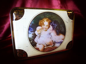 """Vintage """"Nature"""" by Sir Thomas Lawrence P.R.A. Confectionery ADVERTISING TIN"""