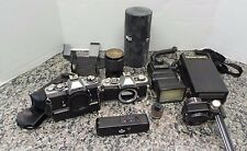 Minolta XD-11 & XG9 35mm Film Camera With Lenses FLASH And  Many Extras 102025-1