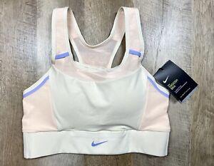 Nike Swoosh Dri-FIT Padded Pocket Medium Support Sports Bra Women's Medium NEW