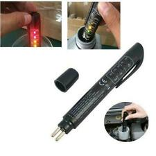Car Brake Fluid Oil Tester Detection Pen With 5 LED Testing indicator Black G2T3