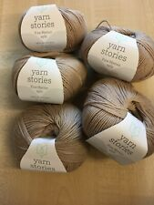 5 x 50g Yarn Stories Fine Merino 4ply Wool For Knitting & Crochet Taupe