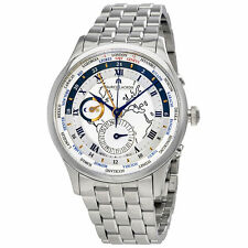 Maurice Lacroix Masterpiece Worldtimer Stainless Steel Watch MP6008-SS002-111