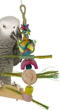 02051 Large Spiral Preener Bird Toy Cage Toys Cages Foraging Chew Shred Parrot
