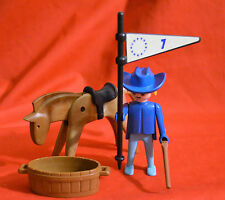 VINTAGE MCDONALD'S PLAYMOBIL SOLDIER WITH HORSE WATER THOUGH