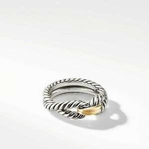 Sterling Silver and 14k Gold David Yuman ring size 8.5