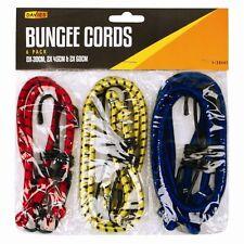 6 Nuevo Bungee Correas Cuerdas Set Con Ganchos elástica Cuerda Cable De Coche Bicicleta Equipaje