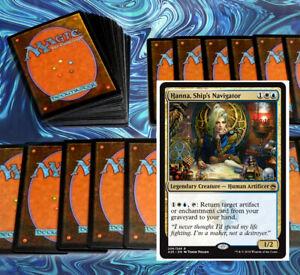 mtg BLUE WHITE AZORIUS COMMANDER EDH DECK Magic the Gathering hanna rare cards