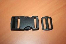 Accessoire Maroquinerie Fermoir Ouverture Rapide Plastique noir + Boucle 30 mm