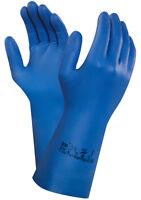 Ansell Virtex 79-700 Nitrile Gloves Chemical Resistant Blue Nitrile Glove