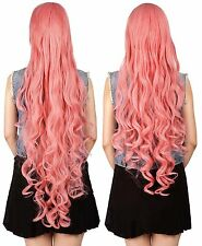 Halloween Women's Long Curly Wavy Hair Anime Costume Cosplay Party Wig Full Wigs