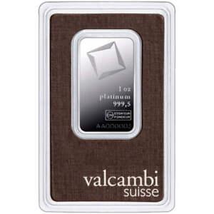 L@@K PAMP 1oz PLATINUM Bar   VALCAMBI   999.5 PREPPER Investment !!