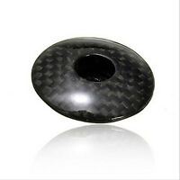 """New Bike Bicycle Cycling 1-1/8""""  Carbon Fiber Stem Top Cap Cover Headset TB"""