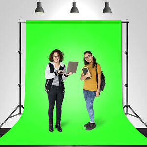 6 x 9 Photography Green Screen Backdrop Background Stand for Studio Light Kit