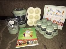 Magic Bullet Baby Bullet Replacement Pieces And Cookbook Lot