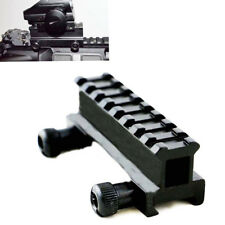 "Flat Top 1"" Riser Base Scope Rail Adapter Mount 8 Slots 20mm Picatinny Weaver"