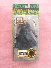 LORD OF THE RINGS: SUPER POSEABLE BOROMIR (WITH SHIELD & HORN) - TOYBIZ - BOXED