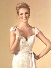 ALFRED ANGELO $1499 8 IVORY ALENCON SOUTACHE NETTING BRIDAL GOWN WEDDING DRESS