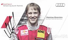 2011 Mattias Ekstrom signed Audi Racing A4 DTM postcard