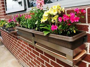 Wall Mount Plant Shelf  Stainless Steel Wall Hang 1 m Flower Rack