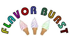 Flavor Burst WORDING Soft Serve 6''x13'' Decal for Ice Cream Truck or Parlor