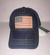 Polo Ralph Lauren Denim USA Flag Trucker Hat Cap