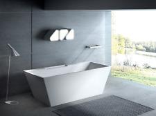 "Carver Tubs Kaskade 71"" Freestanding Soaking Bathtub-Chrome Drain/Overflow"