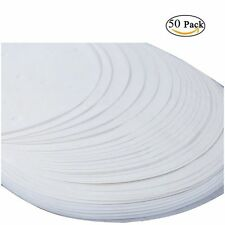 """50 X 20cm (8"""") Non Stick Round Greaseproof Parchment Paper Cake Tin Liners"""