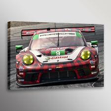 Porsche 911 GT3 R Racecar Car Photo Automotive Wall Art Canvas Print