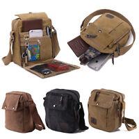 Men's Military Canvas Travel Shoulder Bag Crossbody Bags Casual Messenger Bags
