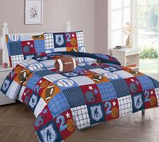 Boy Kids/Teens Patchwork Sports Basketball Bed In A Bag COMFORTER Sheet Set