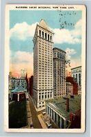 Historic 1912 Bankers Trust Building Vintage New York City c1926 Postcard