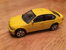 REALTOY BMW 3 SERIES 1/59 YELLOW DIECAST PLAYWORN