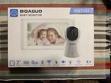 Bigasuo Baby Monitor 7'' TouchScreen Display 8GB 2Way Audio Temperature | BMT101