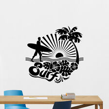 Surfing Wall Decal Sports Sea Palms Surf Vinyl Sticker Gym Decor Poster 217hor