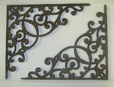 """set of 2 antique style X-Large Cast Iron Shelf Brackets 12-3/4"""" x 11-1/4"""" #57"""