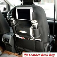 BLACK- Multifunction Car Seat Back Bag Organizer Storage Cup iPad Phone Holder