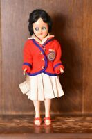 Fabulous VINTAGE Costume Doll of a Holiday Camp RED COAT - 18cm Tall