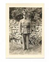 Foto, Soldat in Uniform, Mütze,