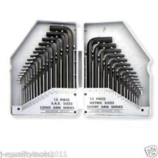 30pc Combo Hex Key Allen Wrench Set SAE/MM