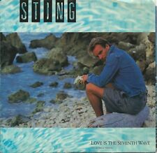 """1985 STING 7"""" 45 rpm w/ PIC SLEEVE Love Is The Seventh Wave / Blue Turtles M-"""
