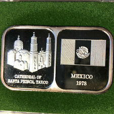 1978 Rosario Resource Mexico 1 oz .999 Silver Bar w/ Case and COA
