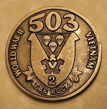 503rd Airborne Engraved: Lt. Wlegand Army Challenge Coin