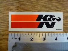 K&N Filters Small Black die-cut Sticker Decal