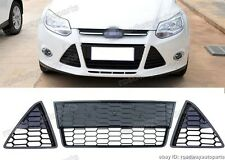 Honeycomb Front Lower LH+Center+RH Grille Grill OEM for Ford Focus 2012-2014